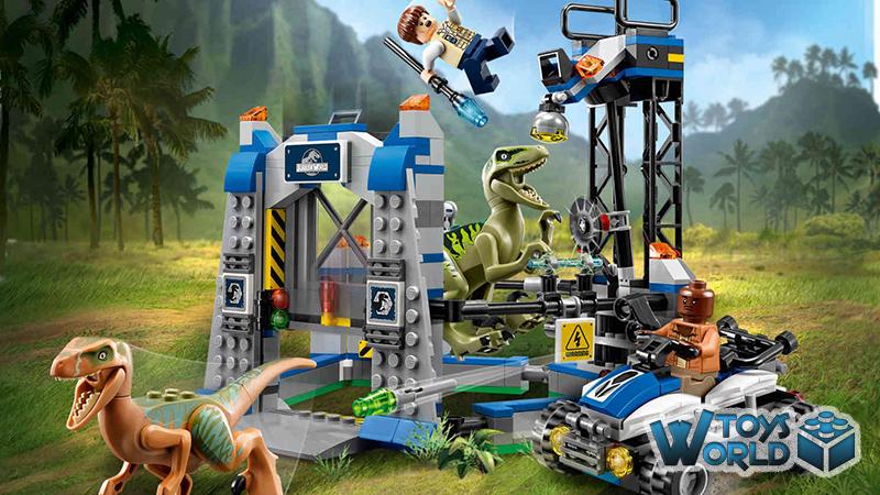 lego jurassic world 'raptor escape' set 75920  toysworld