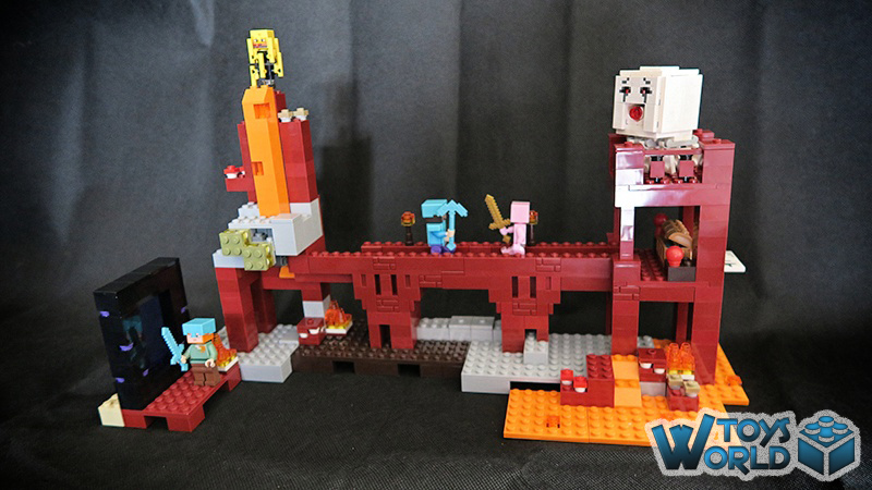 Lego minecraft the nether fortress 21122 toysworld for Lego world craft